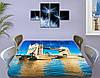 Виниловая наклейка на стол Тауэрский мост Темза декоративная пленка самоклеющаяся, голубой 60 х 100 см, фото 3