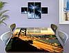 Виниловая наклейка на стол Раннее Утро над мостом самоклеющаяся пленка с ламинацией, бежевый 60 х 100 см, фото 3