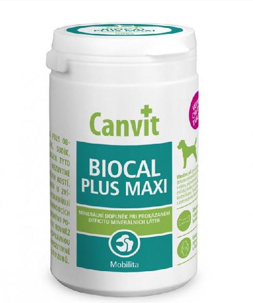 КАНВИТ БИОКАЛЬ ПЛЮС МАКСИ Canvit Biocal Plus Maxi for dogs минеральная кормовая добавка для собак, 76 таб