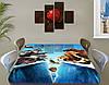 Детская наклейка на стол Ледниковый период виниловая самоклеющаяся пленка для мебели, голубой 60 х 100 см, фото 3