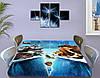 Детская наклейка на стол Ледниковый период виниловая самоклеющаяся пленка для мебели, голубой 60 х 100 см, фото 4