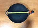 Сковорода вок чавунна з кришкою сковорідкою 300х90мм «Сітон», фото 3