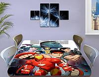 Детская наклейка на стол Железный человек самоклеющаяся интерьерная пленка для декора, красный 60 х 100 см