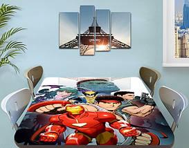 Детская наклейка на стол Железный человек самоклеющаяся интерьерная пленка для декора, красный 60 х 100 см, фото 2
