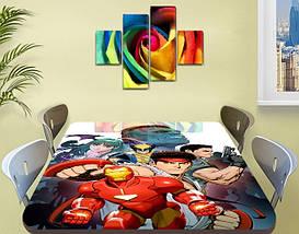 Детская наклейка на стол Железный человек самоклеющаяся интерьерная пленка для декора, красный 60 х 100 см, фото 3