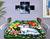 Детская наклейка на стол Котенок виниловая самоклеющаяся пленка для декора мебели, зеленый 60 х 100 см, фото 3
