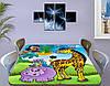 Детская наклейка на стол Жираф и Попугай виниловая самоклеющаяся пленка для декора мебели, желтый 60 х 100 см, фото 3