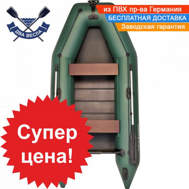 Моторная лодка Аквамания AM-310 со сдвижными сиденьями и реечным настилом трехместная + рым-ролик