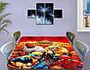 Детская виниловая наклейка на стол Супергерои Марвел, самоклеющаяся пленка с ламинацией, красный 60 х 100 см, фото 3