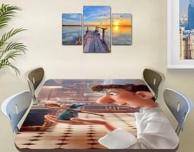 Виниловая наклейка на стол Рататуй мышонок мультик двойная пленка, 60 х 100 см, мультфильмы, бежевый, фото 2