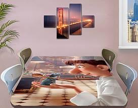 Виниловая наклейка на стол Рататуй мышонок мультик двойная пленка, 60 х 100 см, мультфильмы, бежевый, фото 3