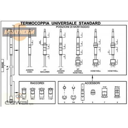 Термопара универсальная Cewal TU Standard (900mm), фото 2