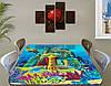 Детская виниловая наклейка на стол Атлантида, самоклеющаяся пленка подводный мир, голубой 60 х 100 см, фото 2