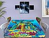 Детская виниловая наклейка на стол Атлантида, самоклеющаяся пленка подводный мир, голубой 60 х 100 см, фото 3