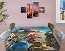 Детская виниловая наклейка на стол Большой отрыв Боба, самоклеющаяся пленка декоративная, голубой 60 х 100 см, фото 3