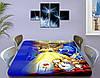 Детская виниловая наклейка на стол Красавица и Чудовище, самоклеющаяся двойная пленка, голубой 60 х 100 см, фото 4