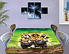 Детская виниловая наклейка на стол Мадагаскар мультфильм, самоклеющаяся пленка, зеленый 60 х 100 см, фото 4