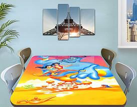 Детская виниловая наклейка на стол Аладдин Джин, самоклеющаяся пленка декоративная, желтый 60 х 100 см, фото 3