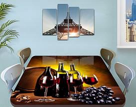 Виниловая наклейка на стол Рубиновое вино Бочка виноград пленка для декорирования, коричневый 60 х 100 см, фото 3
