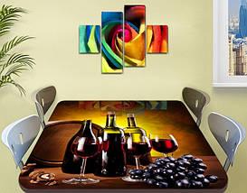Виниловая наклейка на стол Рубиновое вино Бочка виноград пленка для декорирования, коричневый 60 х 100 см, фото 2