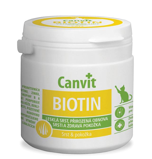 КАНВІТ БІОТІН Canvit Biotin for cats  добавка для поліпшення якості вовни для кішок, 100 таб