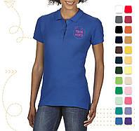 Женская поло PREMIUM Cotton под нанесение логотипа, фото 1