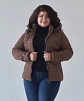 Женская демисезонная куртка в больших размерах приталенного силуэта вразмерах 50-56