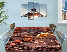 Виниловая наклейка на стол Шоколад и Специи кофе ламинированная пленка наклейки кухня, коричневый 60 х 100 см, фото 3
