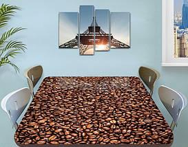 Виниловая наклейка на стол Кофейные зерна кофе ламинированная пленка наклейки на столы, коричневый 60 х 100 см, фото 3