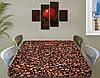 Виниловая наклейка на стол Кофейные зерна кофе ламинированная пленка наклейки на столы, коричневый 60 х 100 см, фото 2