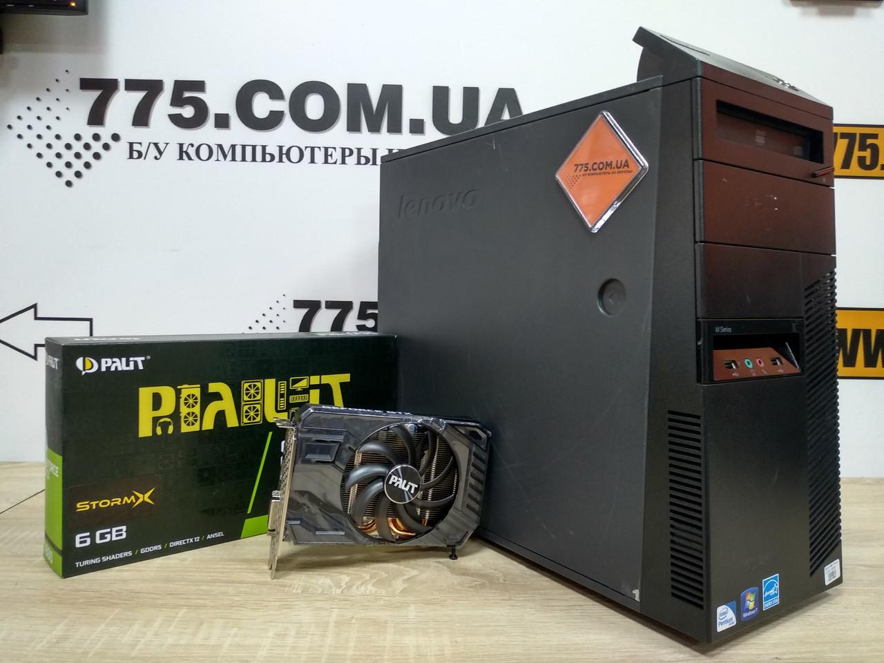 Игровой компьютер Lenovo M82, Intel Core i7 3.8GHz, RAM 8ГБ, SSD 120ГБ, HDD 500ГБ, GeForce GTX 1660 6GB