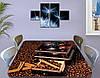 Виниловая наклейка на стол Зерна Кофе кофемолка ламинированная пленка наклейки на кухню коричневый 60 х 100 см, фото 2