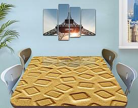 Виниловая наклейка на стол Песок песочная абстракция квадрат самоклеющаяся двойная пленка, бежевый 60 х 100 см, фото 3