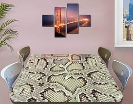 Виниловая наклейка на стол Кожа Питона, змеиная шкура змея самоклеющаяся двойная пленка, серый 60 х 100 см, фото 3
