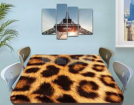 Виниловая наклейка на стол Леопардовый шкура гепарда самоклеющаяся двойная пленка, коричневый 60 х 100 см, фото 3