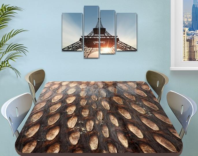 Виниловая наклейка на стол Шишка, под дерево деревянный самоклеющаяся двойная пленка, коричневый 60 х 100 см