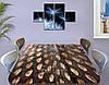 Виниловая наклейка на стол Шишка, под дерево деревянный самоклеющаяся двойная пленка, коричневый 60 х 100 см, фото 3
