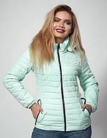 Молодежная утепленна синтепоном демисезонная куртка в размерах 44-46 приталенного силуэта