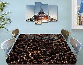 Виниловая наклейка на стол Кожа змеи крокодила самоклеющаяся двойная пленка, коричневый 60 х 100 см, фото 3