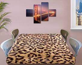Виниловая наклейка на стол Шкура Леопарда гепард самоклеющаяся двойная пленка, бежевый 60 х 100 см, фото 3