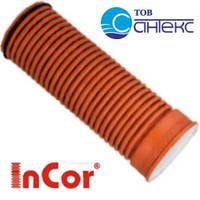 Труба, SN8, d 400мм x 3000мм, гофрированная Инкор (Incor), двухслойная, для канализации