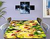 Наклейка на стол Желтые пышные Орхидеи, самоклеющаяся пленка с фотопечатью, цветы, желтый 60 х 100 см, фото 3