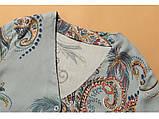 Піжама жіноча бавовняна на гудзиках. Комплект для дому, сну з довгим рукавом, р. M (блакитний), фото 8