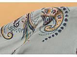 Піжама жіноча бавовняна на гудзиках. Комплект для дому, сну з довгим рукавом, р. M (блакитний), фото 7