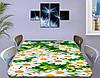 Наклейка на стол Веселые Ромашки белые, наклейки для дизайна интерьера пленка, цветы, белый 60 х 100 см, фото 2