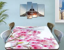 Наклейка на стол Розовая Сакура цветы вишни, самоклеющаяся виниловая пленка, цветы, розовый 60 х 100 см, фото 3