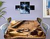 Виниловая наклейка на стол Письмо ламинированная двойная пленка, 60 х 100 см, абстракция, бежевый, фото 3