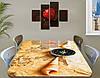 Наклейка на стол Морское приключение, карта компас ракушка, пленка декор пвх, бежевый 60 х 100 см, фото 2