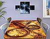 Виниловая наклейка на стол Старинная карта и компас, Самоклеющаяся пленка с фотопечатью, бежевый 60 х 100 см, фото 3