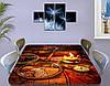 Виниловая наклейка Стол Пирата, самоклеющаяся пленка для мебели, старинная карта, коричневый 60 х 100 см, фото 3